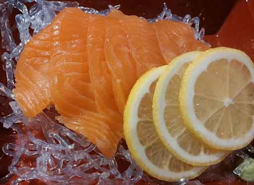 salmon + lemon