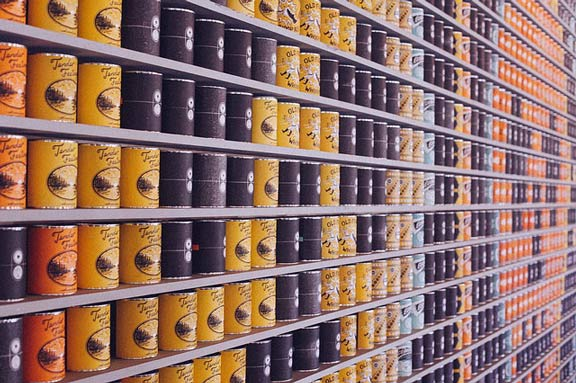 canned Non-Perishable Food at the supermarket