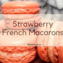 Delicious four Strawberry French Macarons