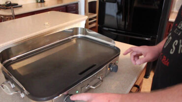 Electric Griddle in the kitchen