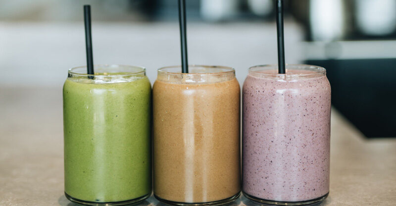 Three Differently-Colored Smoothies